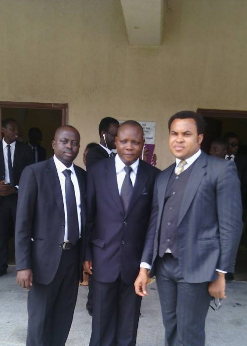 Rev. Fr. Stan Nnakenyi and colleagues