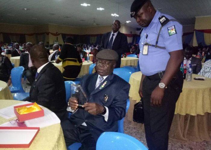 NIC CJ Honoured At Afe Babalola University4