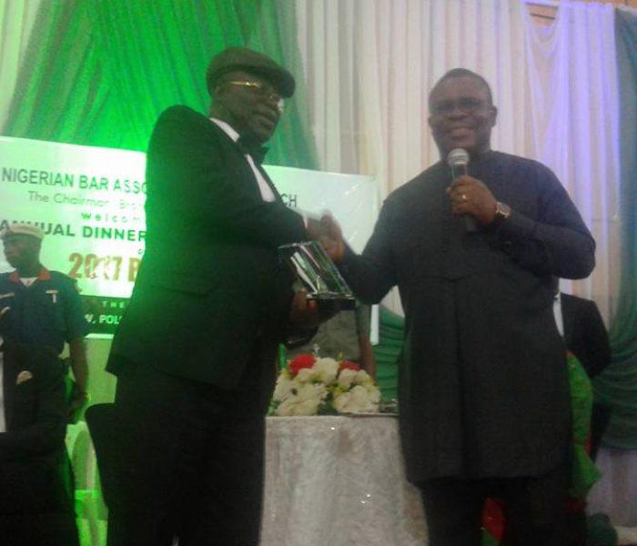 Conferrment of LifeTime Achievement Award to Hon Justice Adejumo