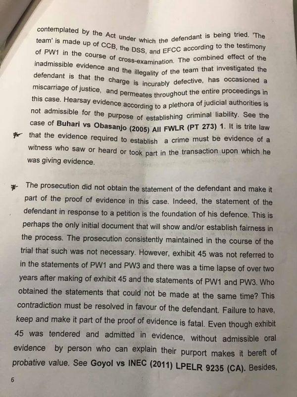 Saraki Judgment Page6