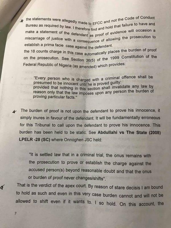 Saraki Judgment Page7