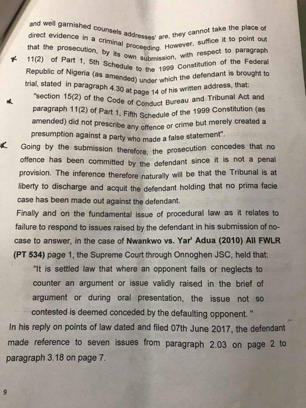 Saraki Judgment Page9