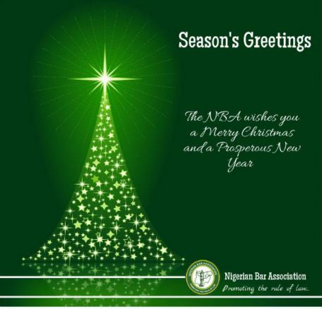 Christmas Message from the NBA President, A.B Mahmoud SAN