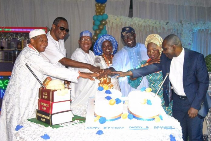 [Photos] Obaseki, Edo CJ, Others Celebrate Asemota SAN at 80